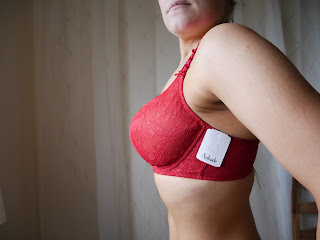 womans body with red bra on