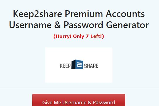 How To Get Keep2share Premium Account User & Password Aug 2021