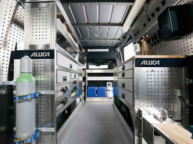 Aluca, inrichting, aluminium, bedrijfswagen, Arcxis