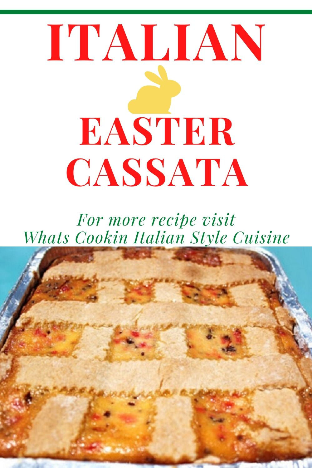 this is a ricotta filled cake popular at Easter in Italy and most Italian American homes called cassata