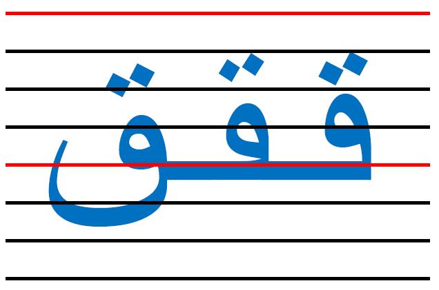 x12 - المقاييس الصحيحة  في الكتابة لكل الحروف العربية