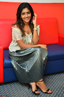 Eesha in a cute deep neck top and Skirt at at Big FM 043.JPG