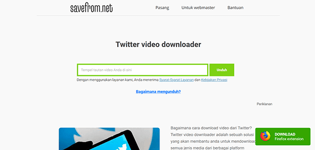 Cara Download Video Twitter Tanpa Aplikasi