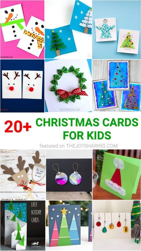 25 simple christmas cards kids can make the joy of sharing 25 simple christmas cards kids can make