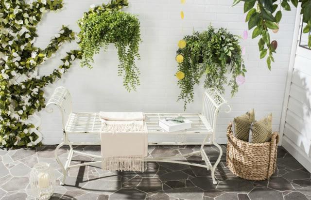 Safavieh Brielle bench at Decor Market - found on Hello Lovely Studio
