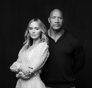 Dwayne (the Rock) Johnson and Emily Blunt