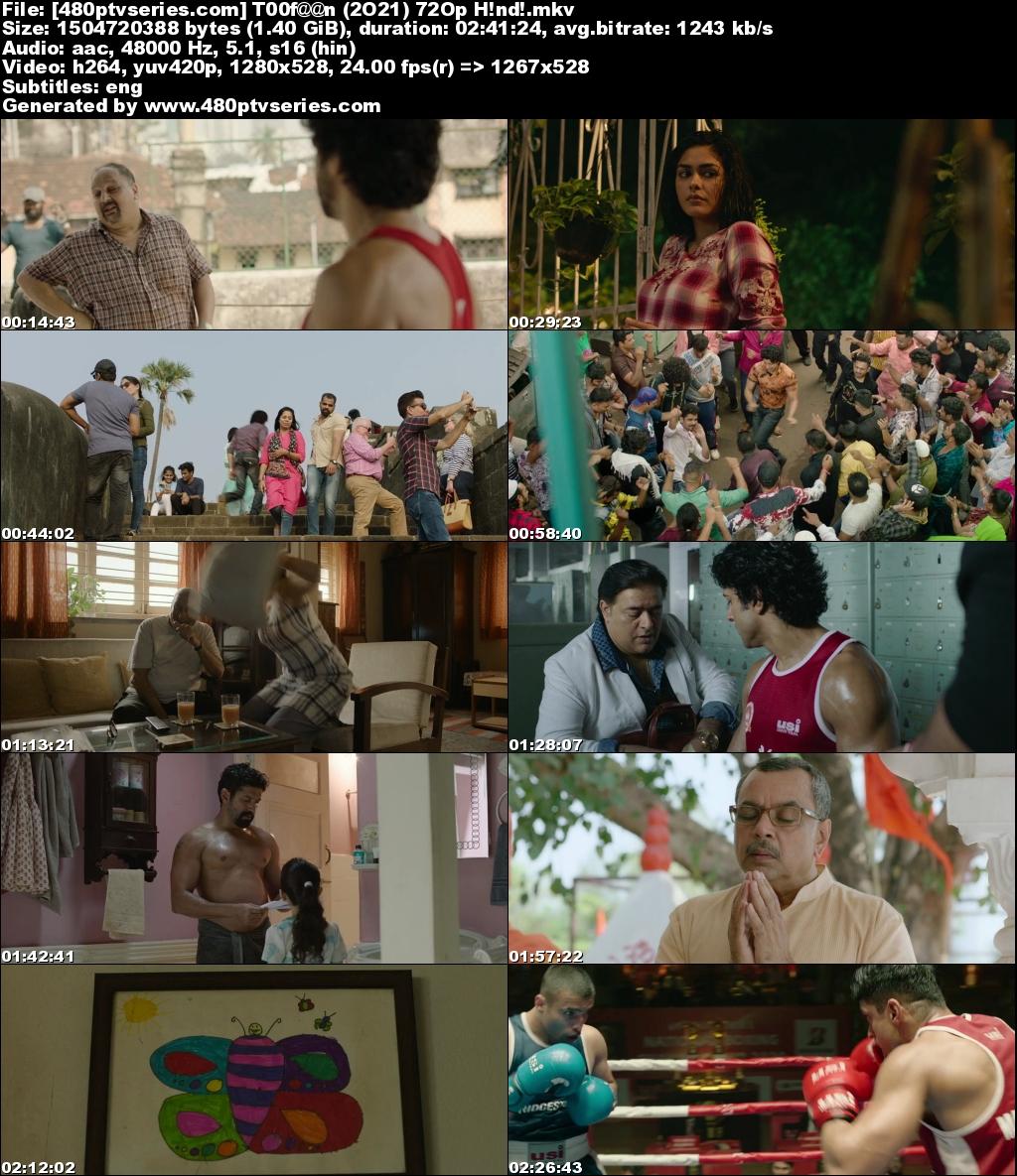 Download Toofaan (2021) Hindi 1.4GB WebRip 720p Free Watch Online Full Movie Download Worldfree4u 9xmovies