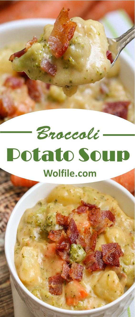 Broccoli Potato Soup Recipe #Potato #Broccoli #Soup #Healthy