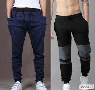 Cotton Blend Solid & Color Block Track Pants Combo Pack Of