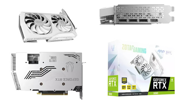 Zotac-Gaming-GeForce-RTX-3060-12GB-AMP-White-Edition-Front-Back-Top-Side-IO-Box-View
