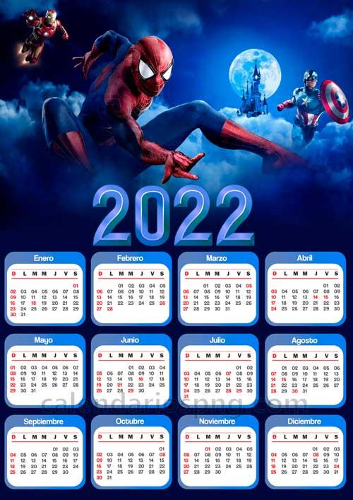 calendario de spiderman 2022