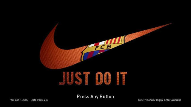 Barcelona Start Screen PES 2018