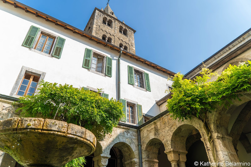 Royal Abbey of St-Maurice Courtyard Things to Do Martigny Switzerland