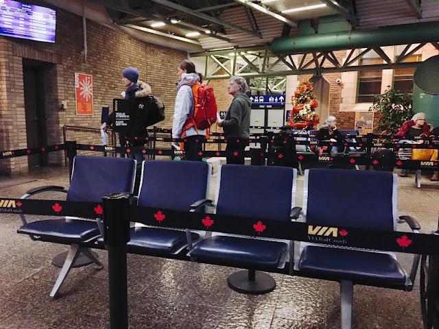 Québec City's Gare du Palais Via Rail Canada waiting area