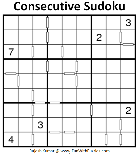 Consecutive Sudoku (Fun With Sudoku #200)