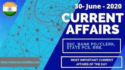 30-June-2020-Current-Affairs