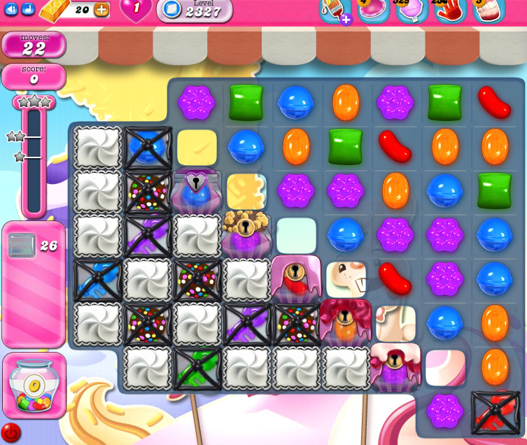 Candy Crush Saga level 2327
