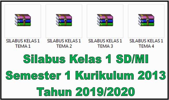 Silabus Kelas 1 SD/MI Semester 1 Kurikulum 2013 Tahun 2019/2020 - Guru Krebet 3