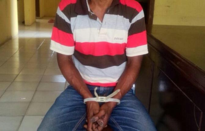 Tukang Banguan di tangkap oleh Polsek Simpang Tiga Polres Aceh Besar