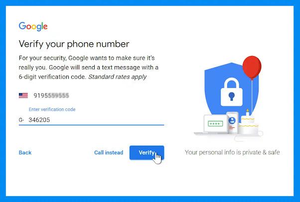 تفعيل حساب gmail بسهولة