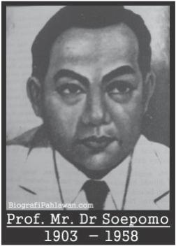 Biografi Soepomo Pencetus dan Arsitek UUD 1945  Tokoh