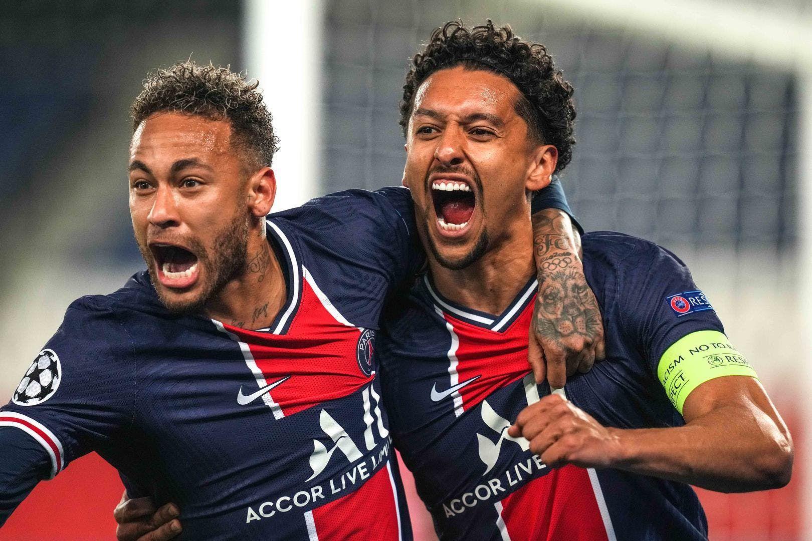 PSG's Neymar and Marquinhos