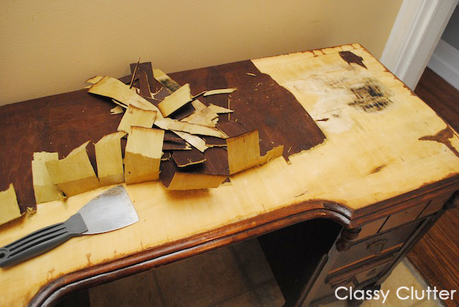 How To Remove Veneer From A Table Top