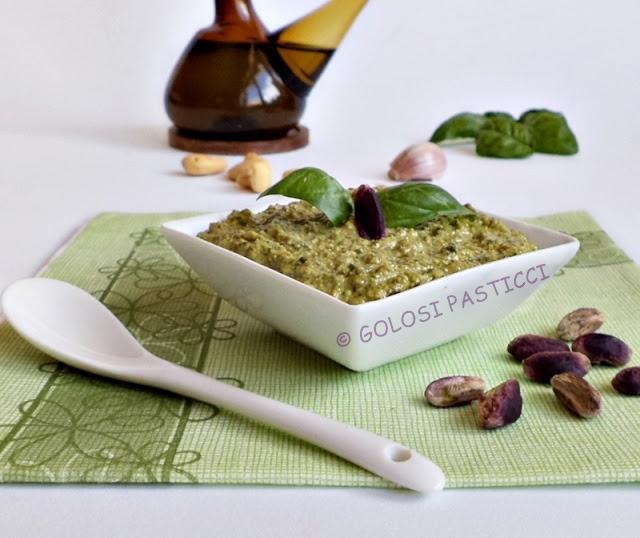 pesto di pistacchi al basilico e anacardi