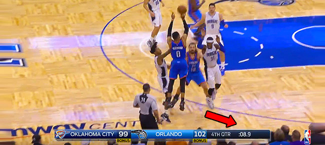 Russell Westbrook Forces OT with CLUTCH 3-Pointer! (VIDEO)
