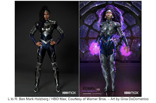 """HBO Max , revealed supersuit for the new highly anticipated character """"Blackfire"""""""