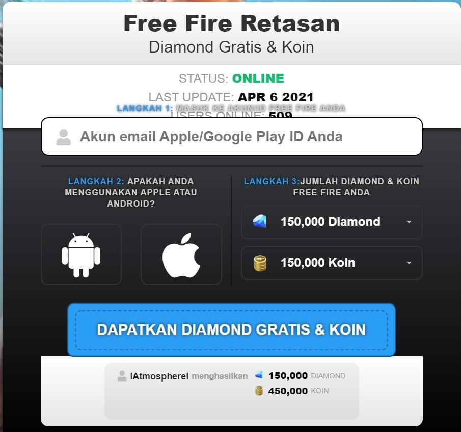 Free Fire Retasan