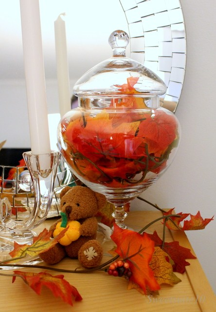 fall decor - maple leaves