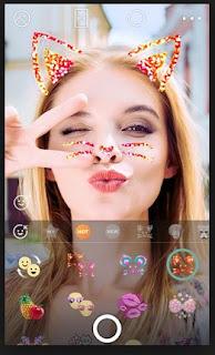 hiasan stiker kamera selfie b612