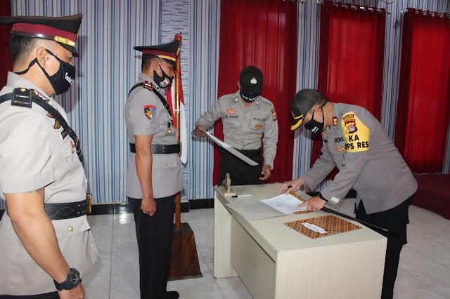Turmuzi  Resmi Dilantik  Sebagai Kasat Polairud Polres Lombok Barat