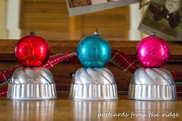 vintage mercury glass ornaments and jello molds