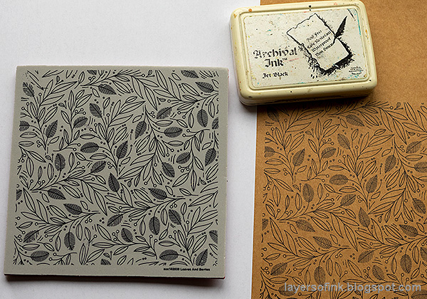 Layers of ink - Colored Pencils on Kraft Tutorial by Anna-Karin Evaldsson. With Simon Says Stamp Cheer and Joy.