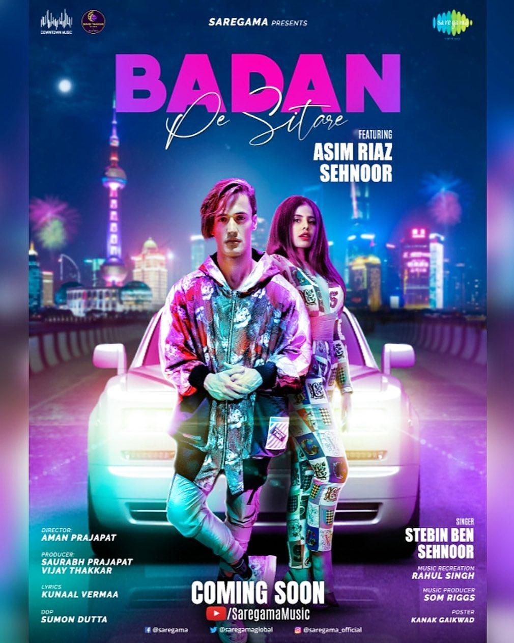 Asim Riaz new song 'Badan Pe Sitare'  Lyrics and Mp3 downlaod