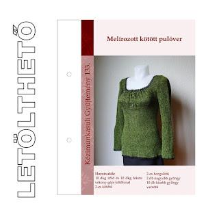 Melírozott kötött pulóver