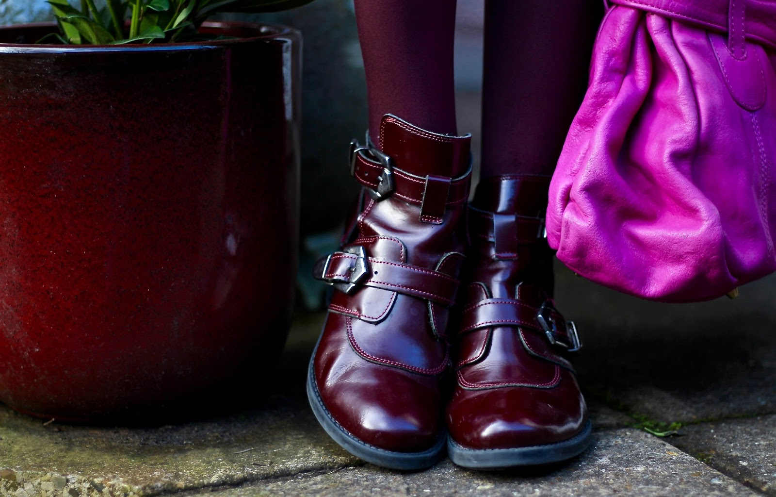 Magenta Wool Dress, Teal Coat, Fuschia Bag | Winter Colour | Fake Fabulous