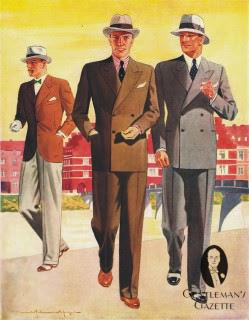 1940s style German suits - from Gentleman's Gazette