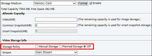 How to use Uniview Edge Storage and Cache Post Recording