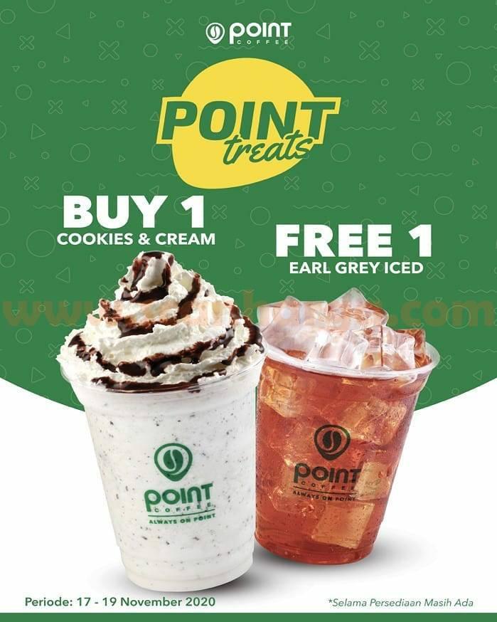 Promo Point Coffee Indomaret Point Treats Buy 1 Get 1 Free* 17 - 19 November 2020