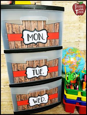 Wooden Shiplap Storage Bin Labels