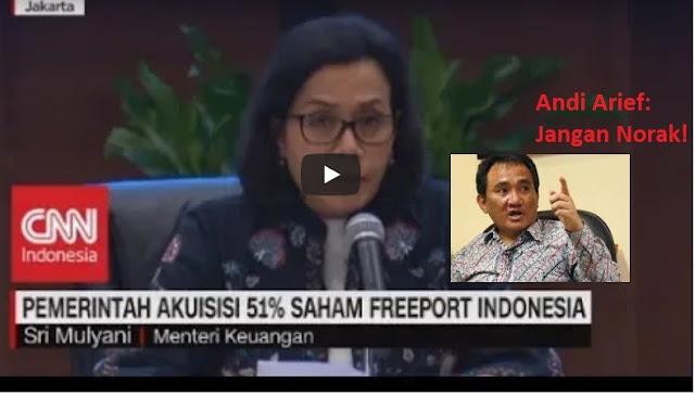 """Pemerintah Akuisisi 51% Saham Freeport Indonesia, Andi Arief """"Jangan Norak"""""""