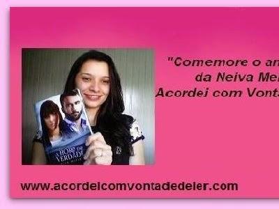 """Resultado da promoção """"Comemore o aniversário da Neiva Meriele no Acordei com Vontade de Ler!!!"""""""