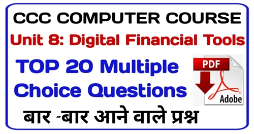 CCC Digital Financial Services MCQ | Digital Financial Question Answer in Hindi | CCC Question Paper