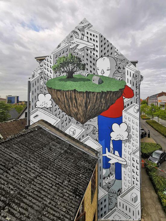 Francesco Camillo Giorgino (Millo) arte murais surreais cidades divertido meigo