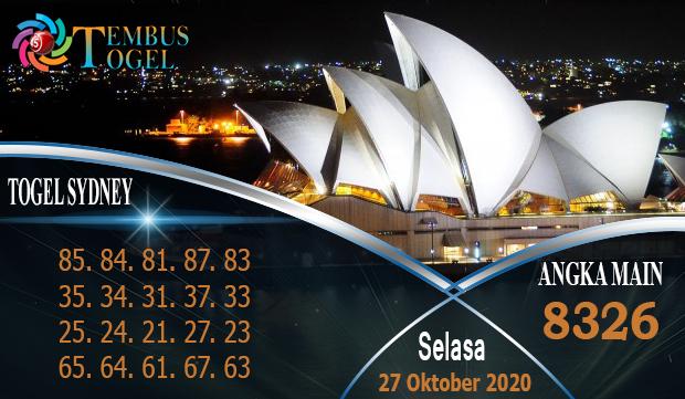 Bocoran Tembustogel Sidney Hari Selasa 27 Oktober 2020