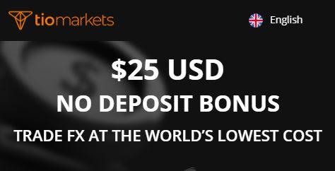 Bonus Forex Tanpa Deposit TIO Markets $25