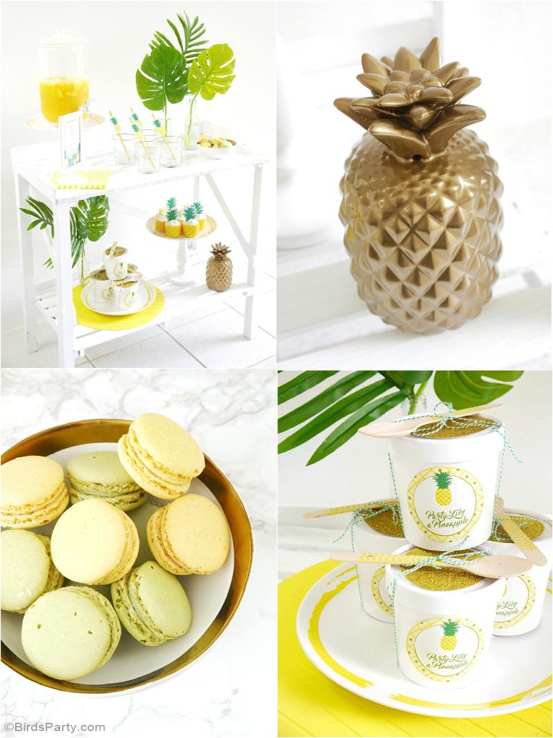 Fête d'Anniversaire Thème Ananas Sweet Table - BirdsParty.fr